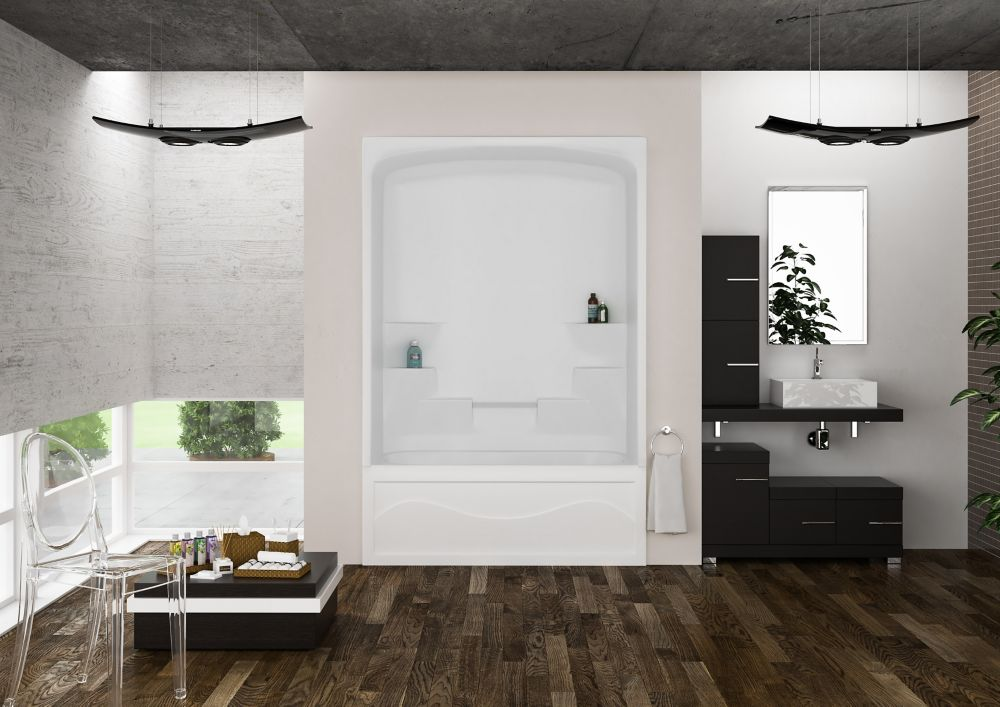Mirolin Liberty Bathroom Pinterest  Shop Kohler Freewill Biscuit Acrylic One Piece Shower With