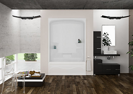 1 piece tub shower. Liberty 60 Inch 1 piece Acrylic Tub and Shower  Right Hand Mirolin