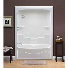 Liberty 60-inch x 88-inch x 34-inch 6-shelf Acrylic 1-Piece Left Hand Drain Tub & Shower