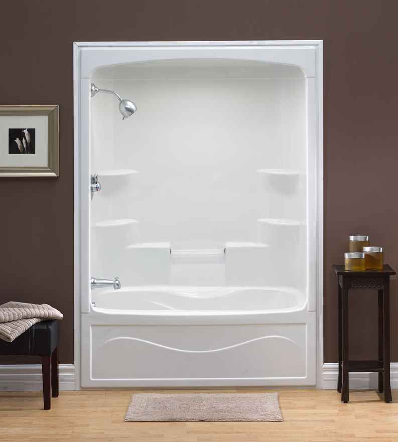 Liberty 60 Inch 1-Piece Acrylic Tub And Shower Combination Whirlpool/Jet-Air- Right Hand
