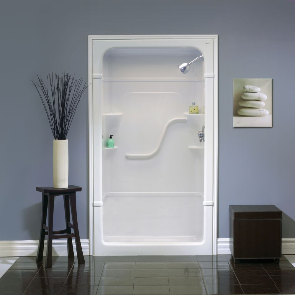 Madison - Cabine de douche monobloc en acrylique, sans siège - 48 pouces - Droite