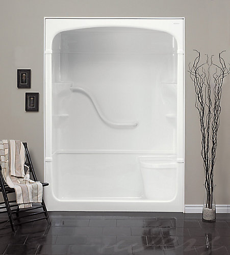 Mirolin Madison 60-Inch 1-Piece Acrylic Shower Stall with Seat ...
