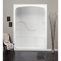 Madison 33.25-Inch D x 60-inch W x 88-inch H Rectangle 1-Piece Acrylic Shower Stall in White