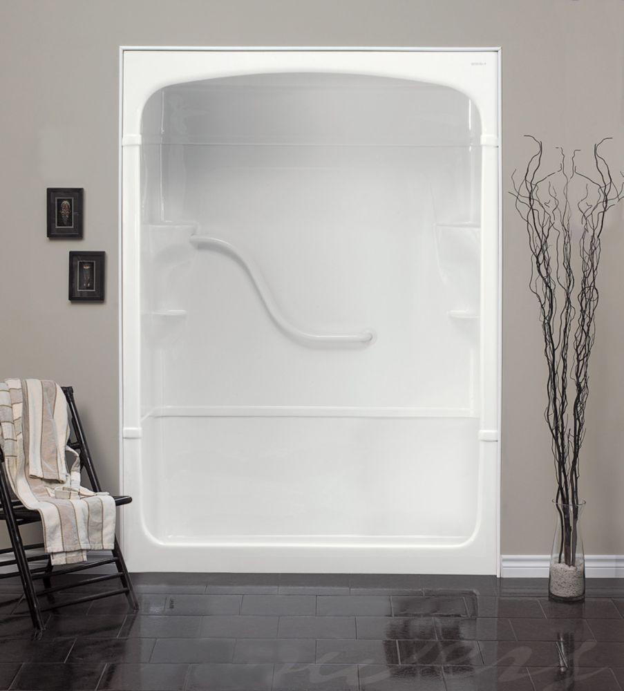 Madison - Cabine de douche monobloc en acrylique, sans siège - 60 pouces - Gauche