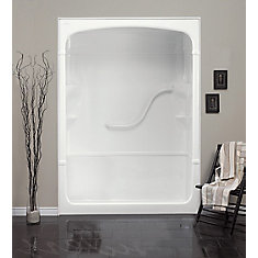 Mirolin Madison 60 Inch 1 Piece Acrylic Shower Stall The Home Depot Canada