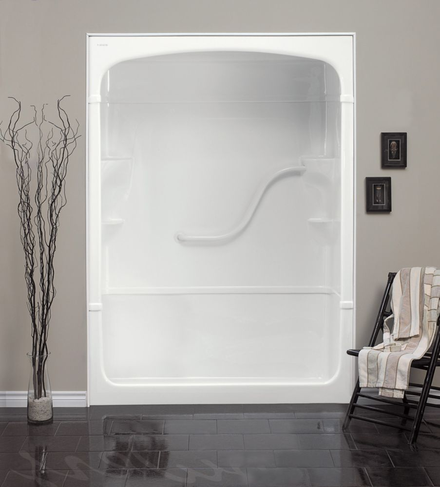 Madison 60-Inch  3-Piece Acrylic Shower Stall