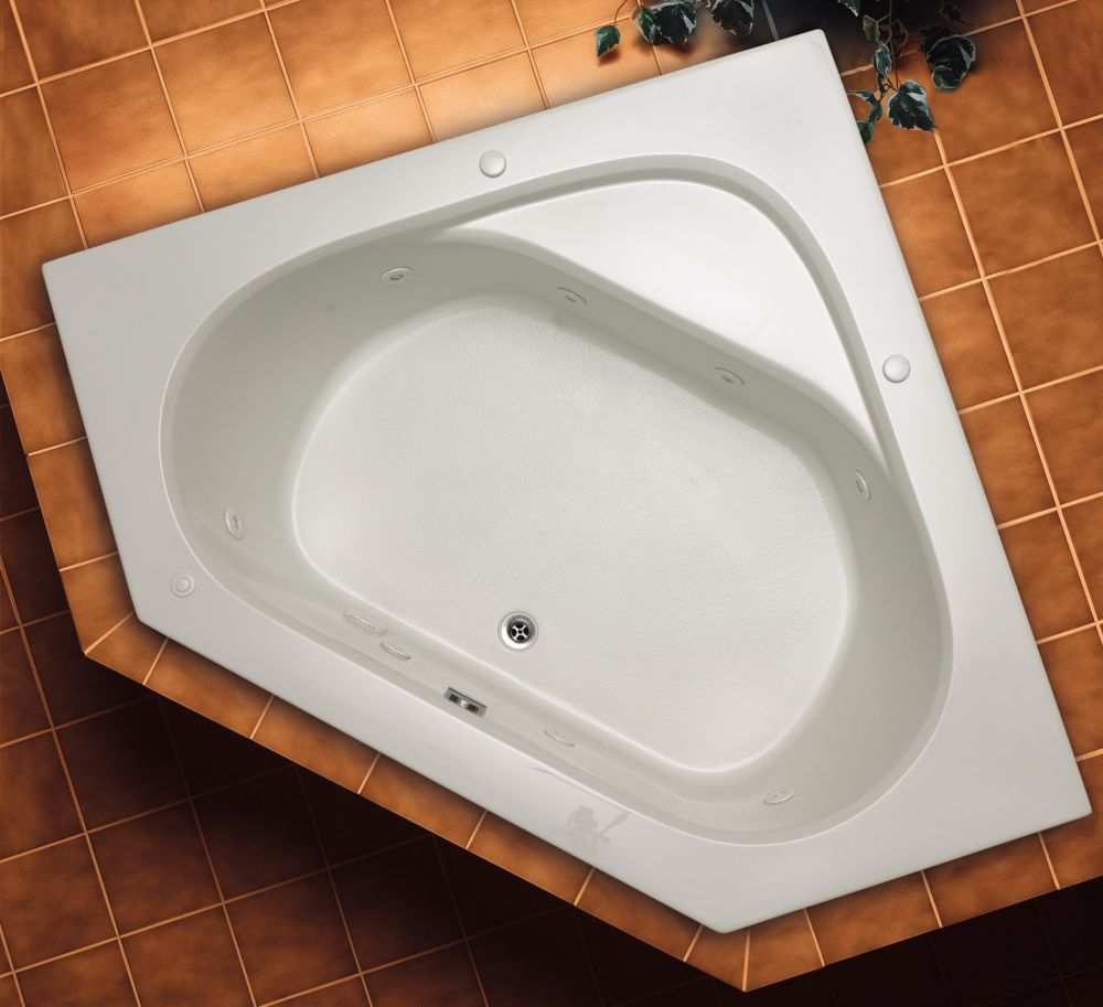 Mirolin Soho 1 Acrylic Corner Drop-in Whirlpool Bathtub | The Home ...