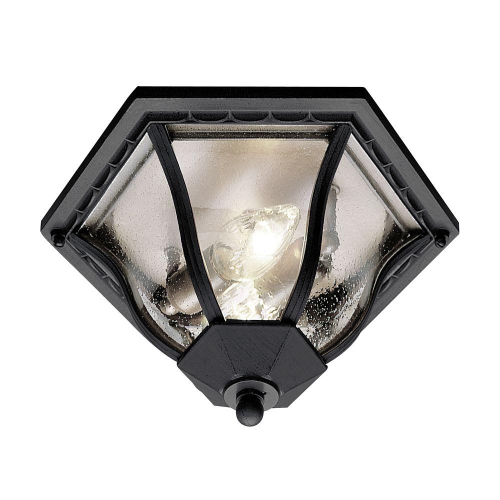 Black Scalloped Edge Ceiling Light