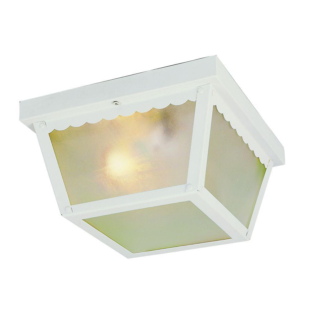 White Rectangle 7 inch Ceiling Light