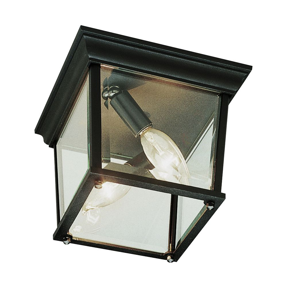Rust Square 9 inch Ceiling Light