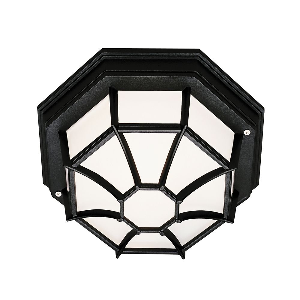 Black Web 9 inch Ceiling Light