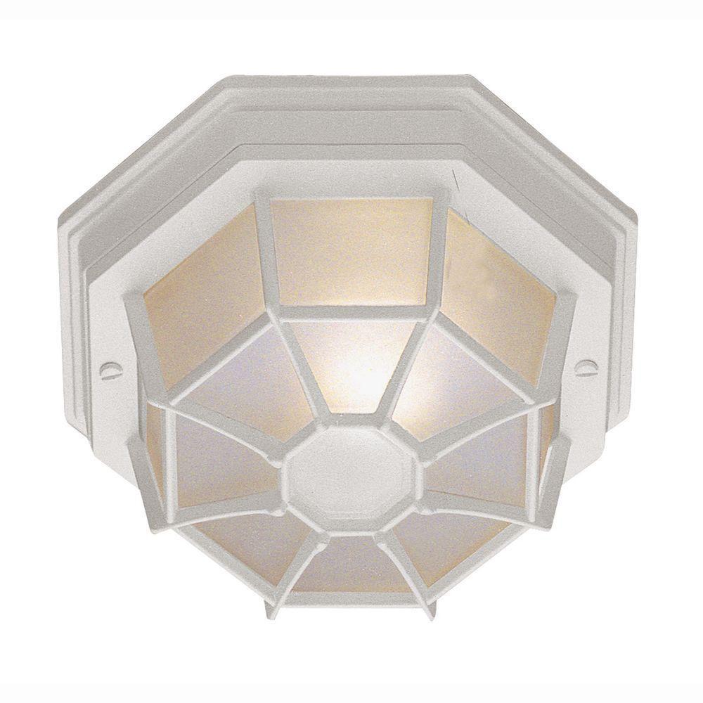 White Web 9 inch Ceiling Light