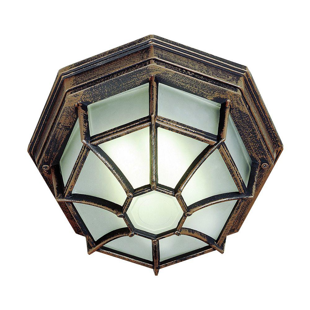 Bel Air Lighting Rust Web 11 inch Ceiling Light