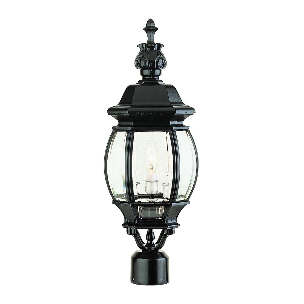 Outdoor Post Lights At Home Depot: Titan Lighting Outdoor Post Lamp In Matte Textured Black