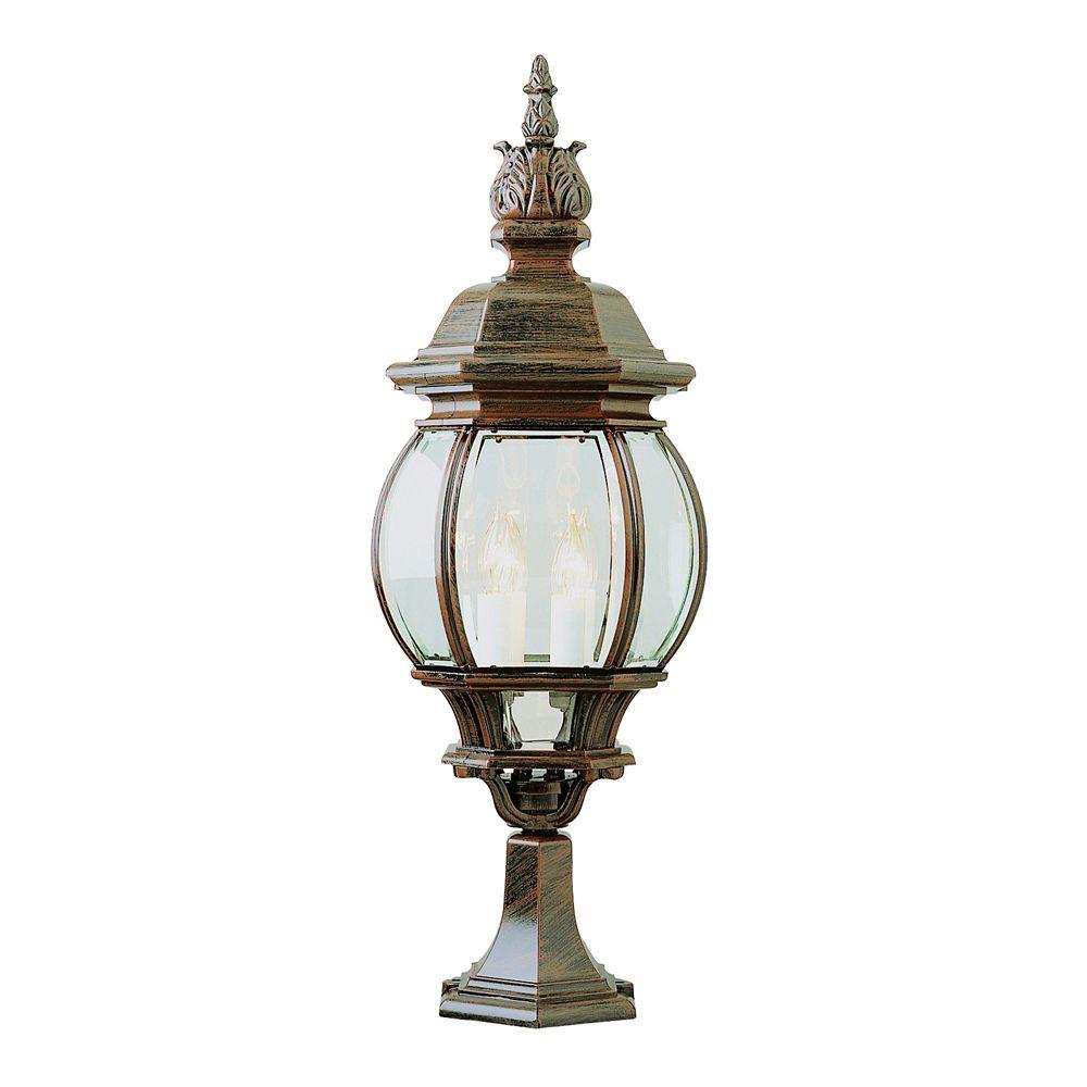 Lampe sur socle, rouille