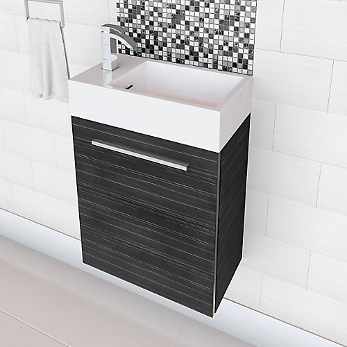 Boutique Collection 18-inch W Vanity in Black