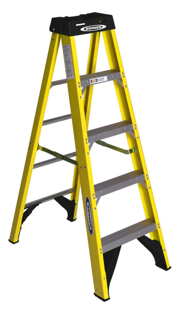 FS205CA 5 Feet Fiberglass Single Sided Stepladder