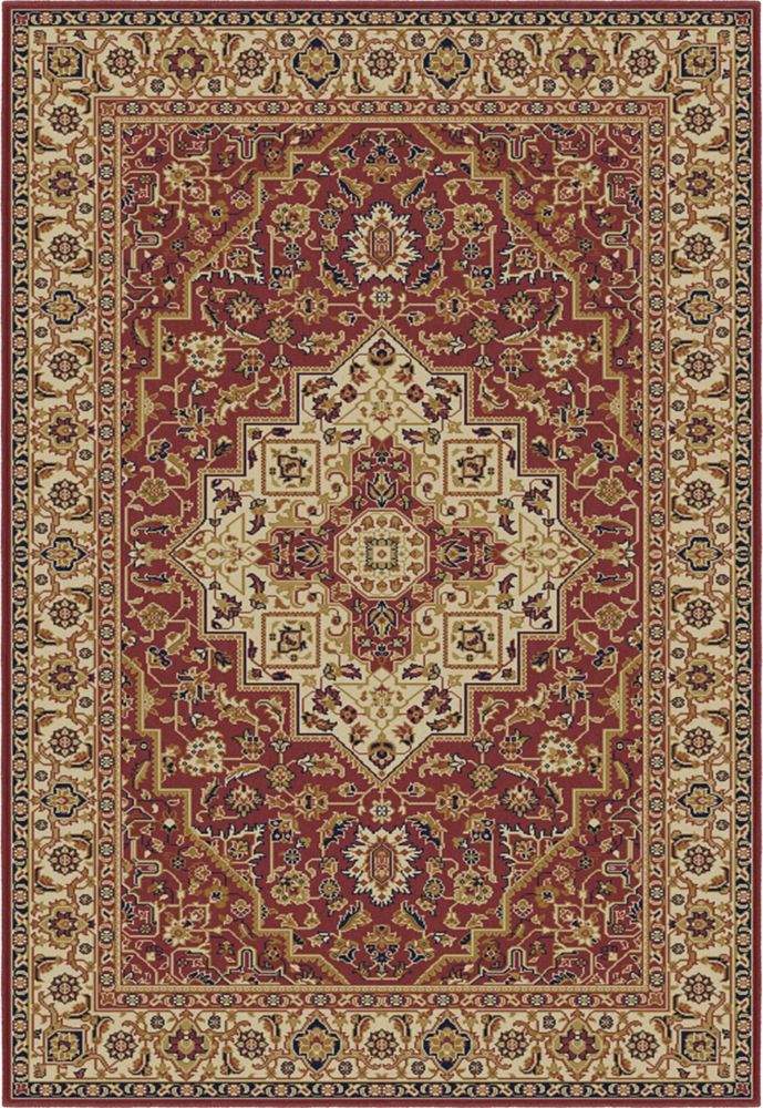 Farin Red Area Rug � 5 Feet 3 Inches x 7 Feet 5 Inches