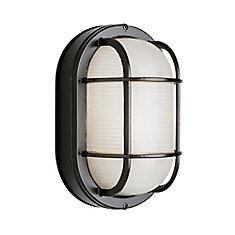 Luminaire pour porche, terrasse et cage d'escalier, 27,94 cm (11 po), noir