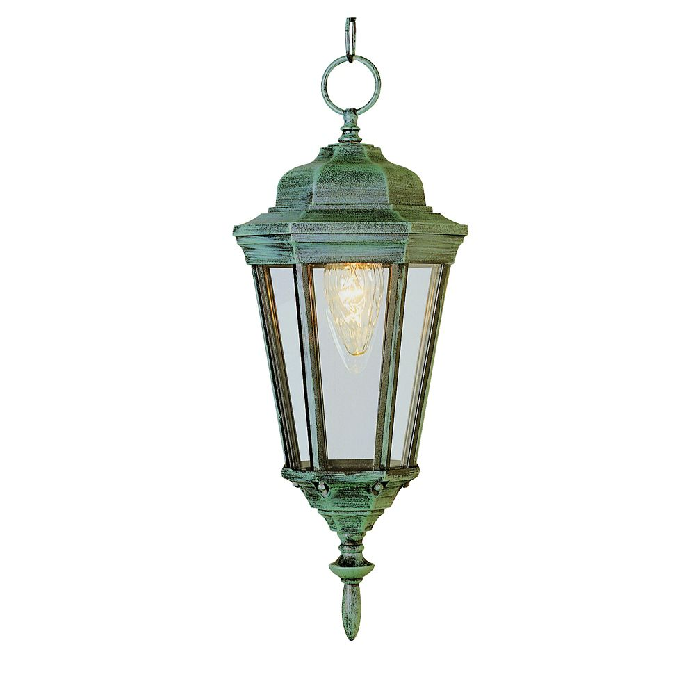Pine Green and Beveled Hanging Light