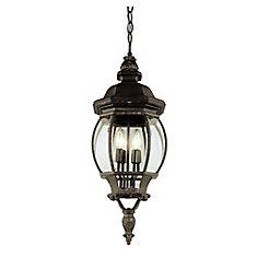 Rust Leaf Finial 32 inch Hanging Lantern
