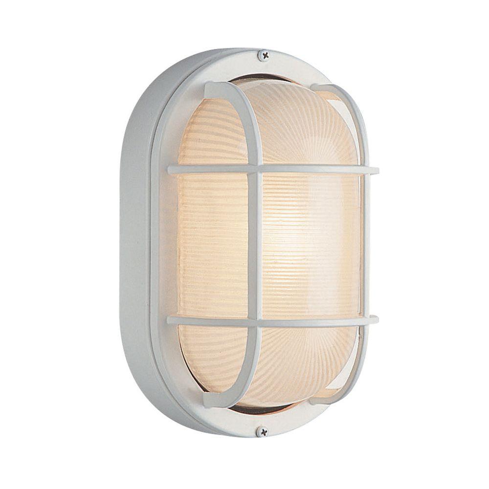 Luminaire pour porche, terrasse et cage d'escalier, 27,94 cm (11 po), blanc