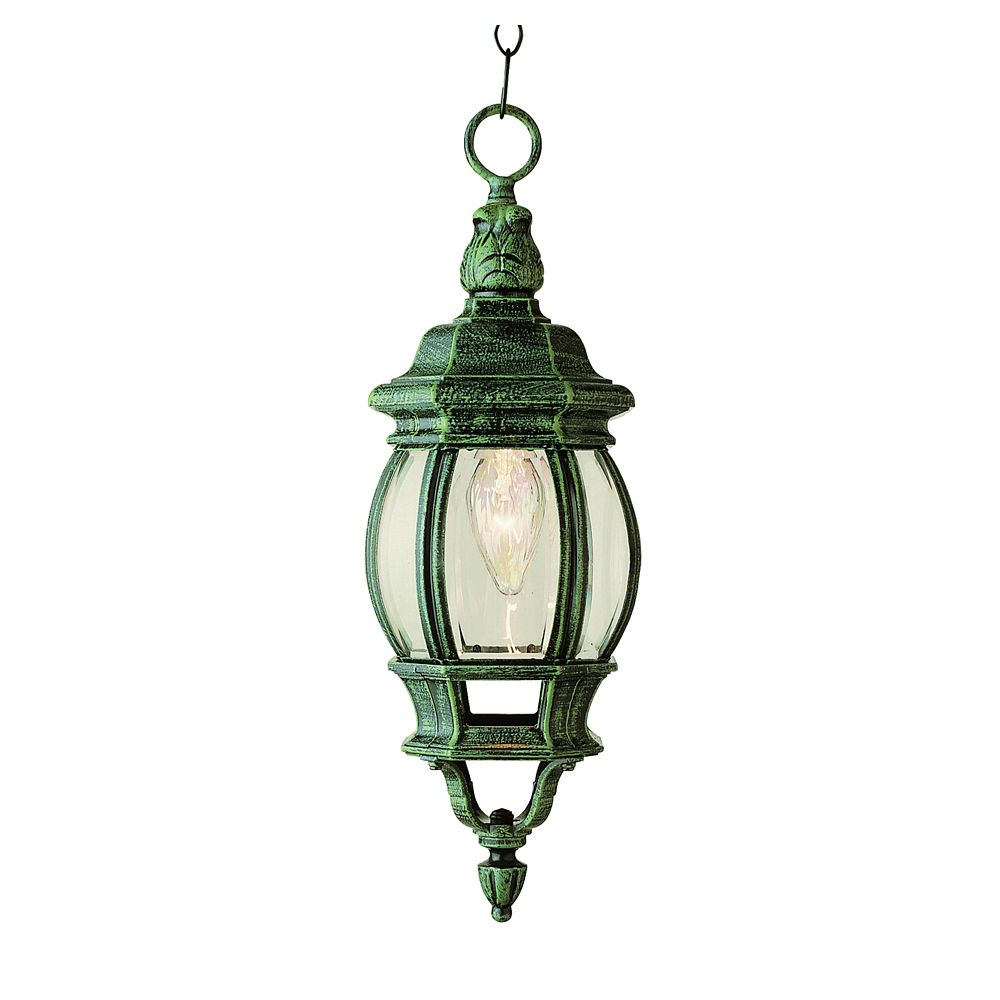 Bel Air Lighting Moss Leaf Finial 20 inch Hanging Lantern
