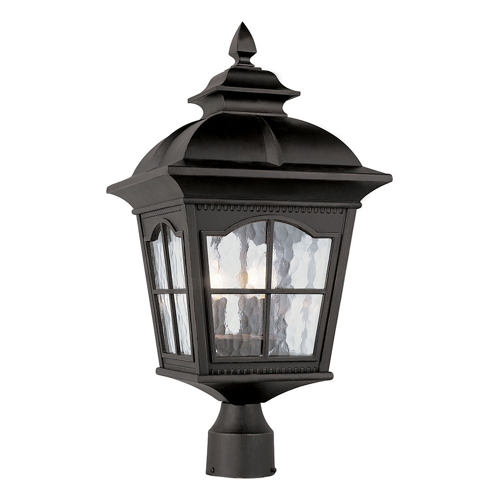 Bel Air Lighting Black Scalloped Window Post Light - Large