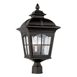 Bel Air Lighting Black Scalloped Window Post Light - Large