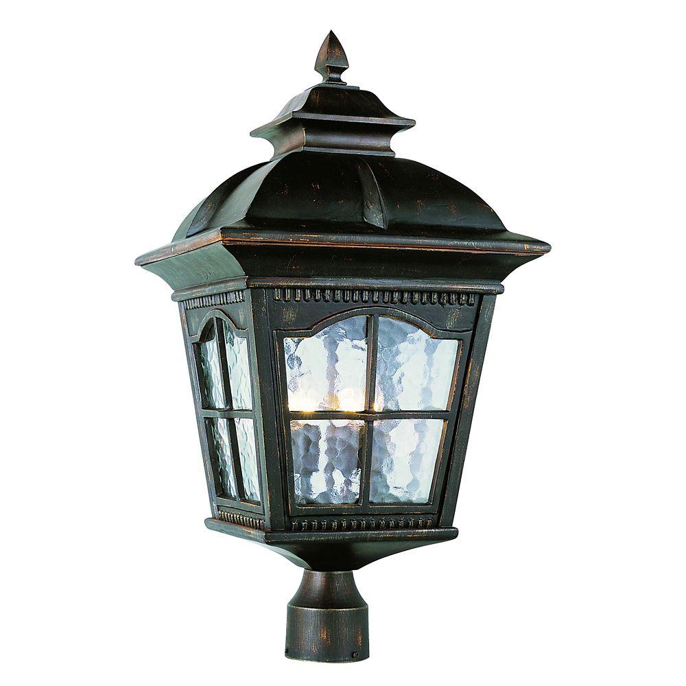 Bel Air Lighting Rust Scalloped Window Post Light - Large