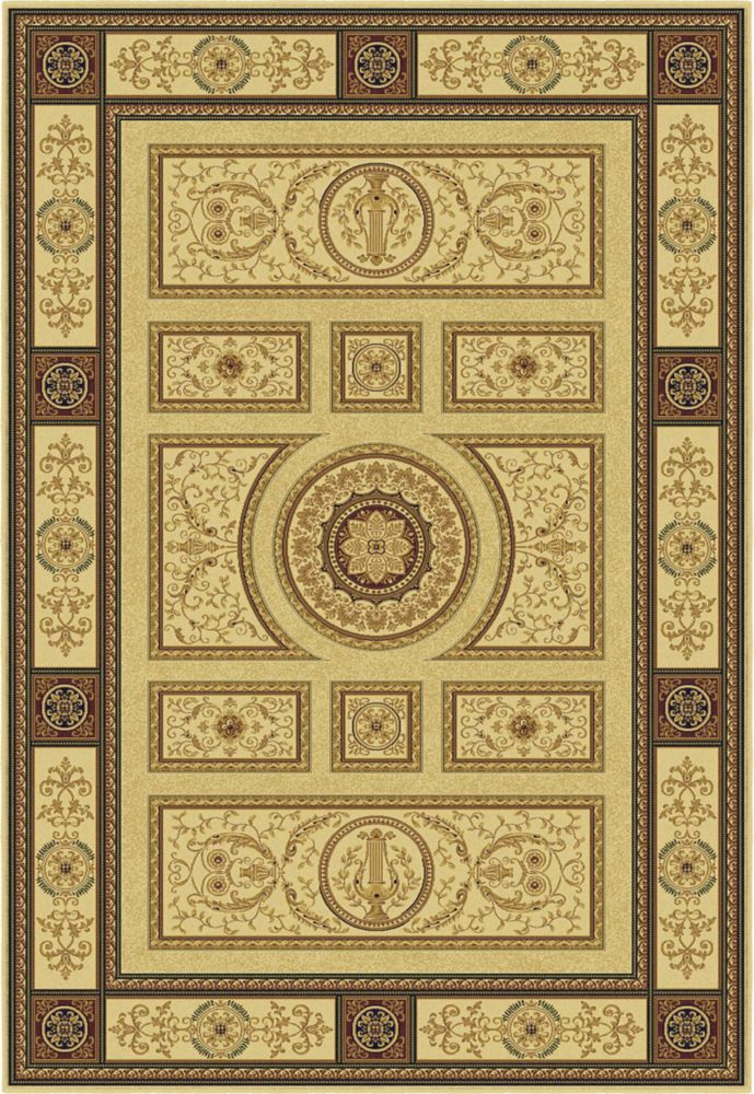 Hadrian Ivory Area Rug � 5 Feet 3 Inches x 7 Feet 7 Inches