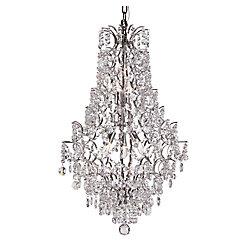 Bel Air Lighting Lustre à tiges, cascade de pétales en cristal, chrome