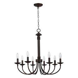 Bel Air Lighting Bronze Hook 8 Light Candelabra