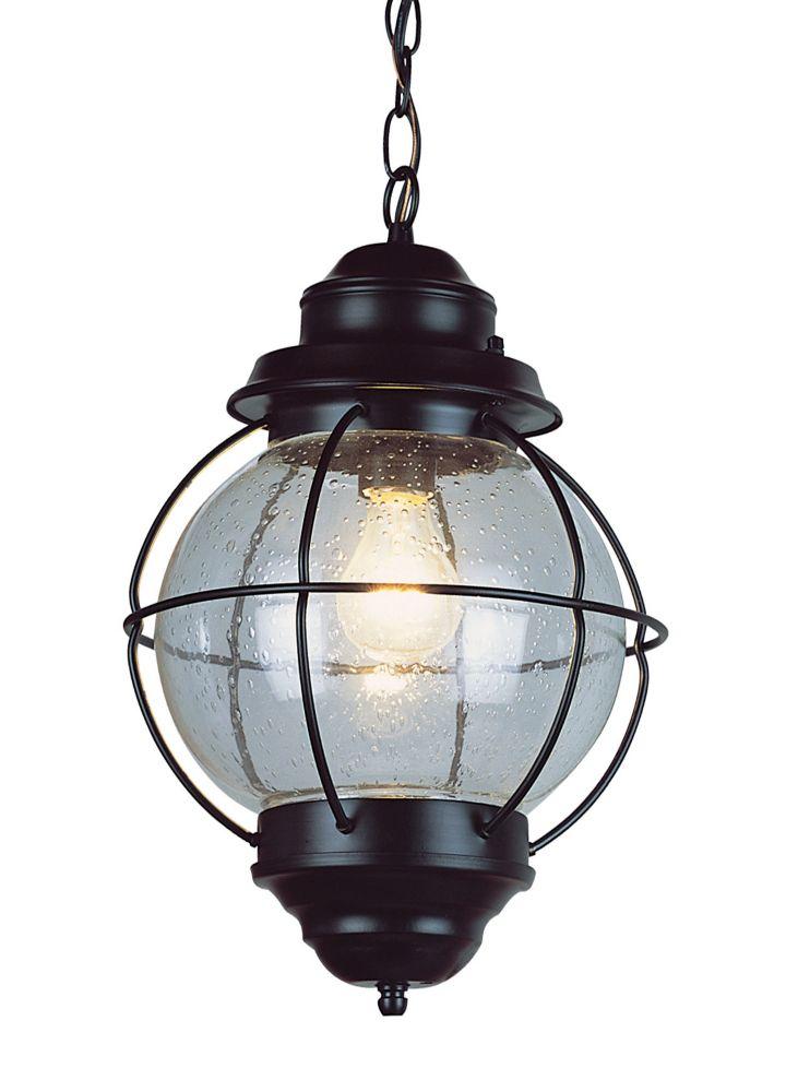 Bel Air Lighting Catalina 1-Light Black Hanging Lantern