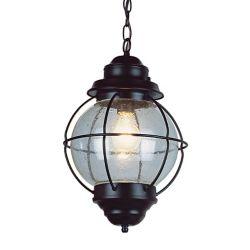Bel Air Lighting Catalina 1 lumière fini noir lanterne pendante