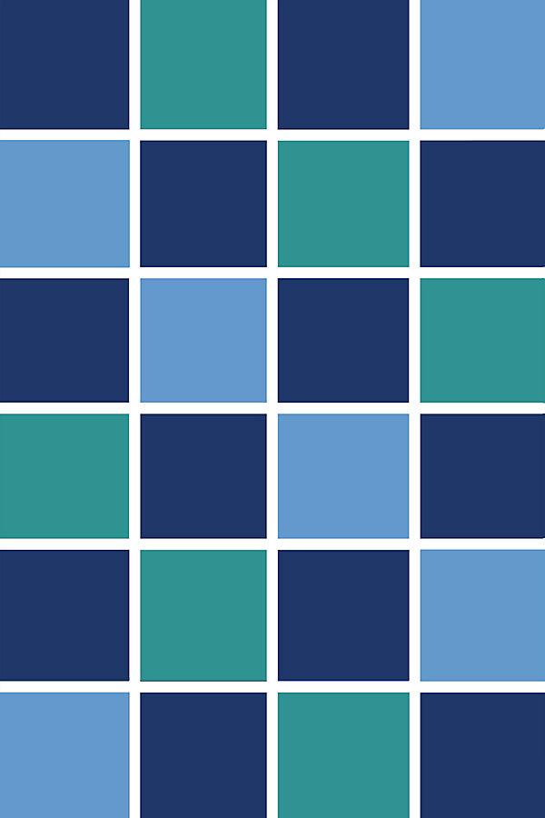Carpette, 3 pi x 4 pi, rectangulaire, bleu Square