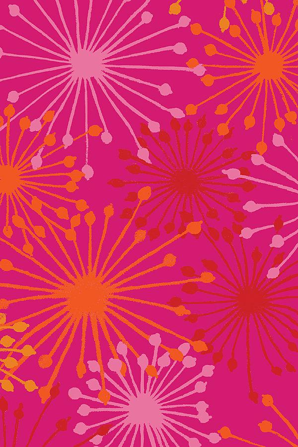 Carpette, 3 pi x 4 pi, rectangulaire, rose Summer Fireworks