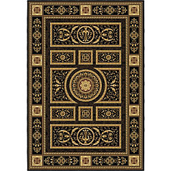 Korhani Carpette, 5 pi 3 po x 7 pi 7 po, rectangulaire, noir Hadrian