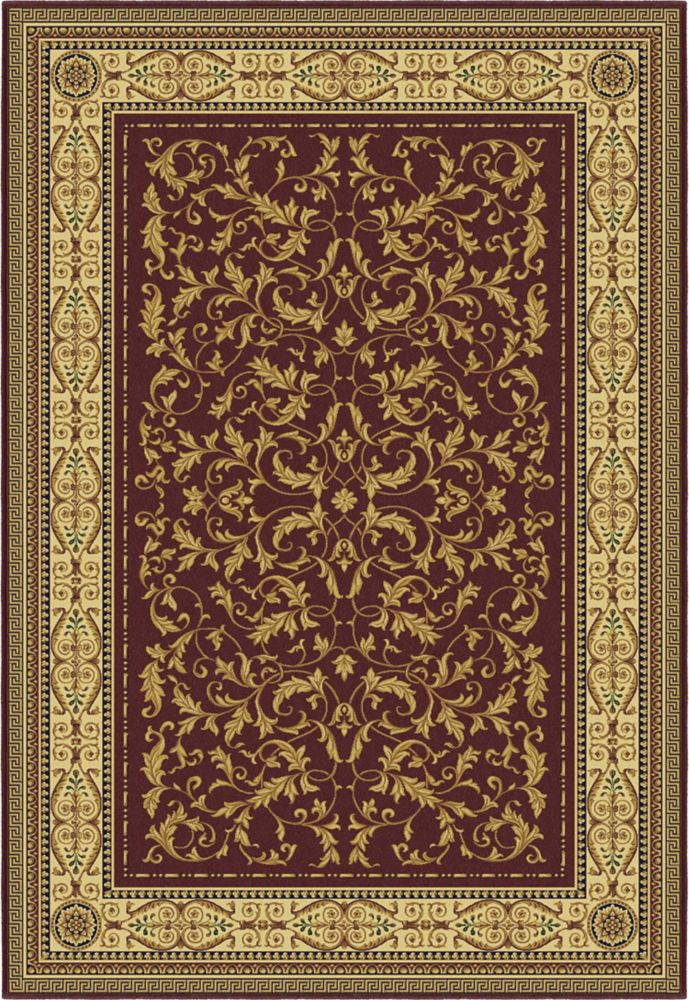 Annia Red Area Rug � 5 Feet 3 Inches x 7 Feet 7 Inches