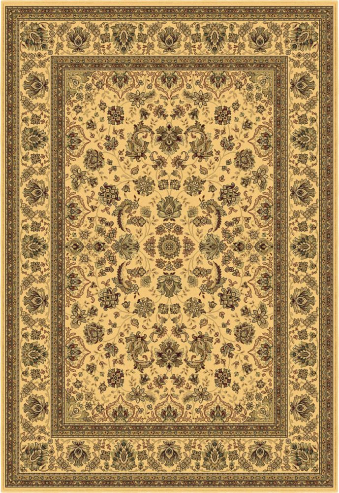 Stuttgart Ivory Area Rug � 5 Feet 3 Inches x 7 Feet 7 Inches