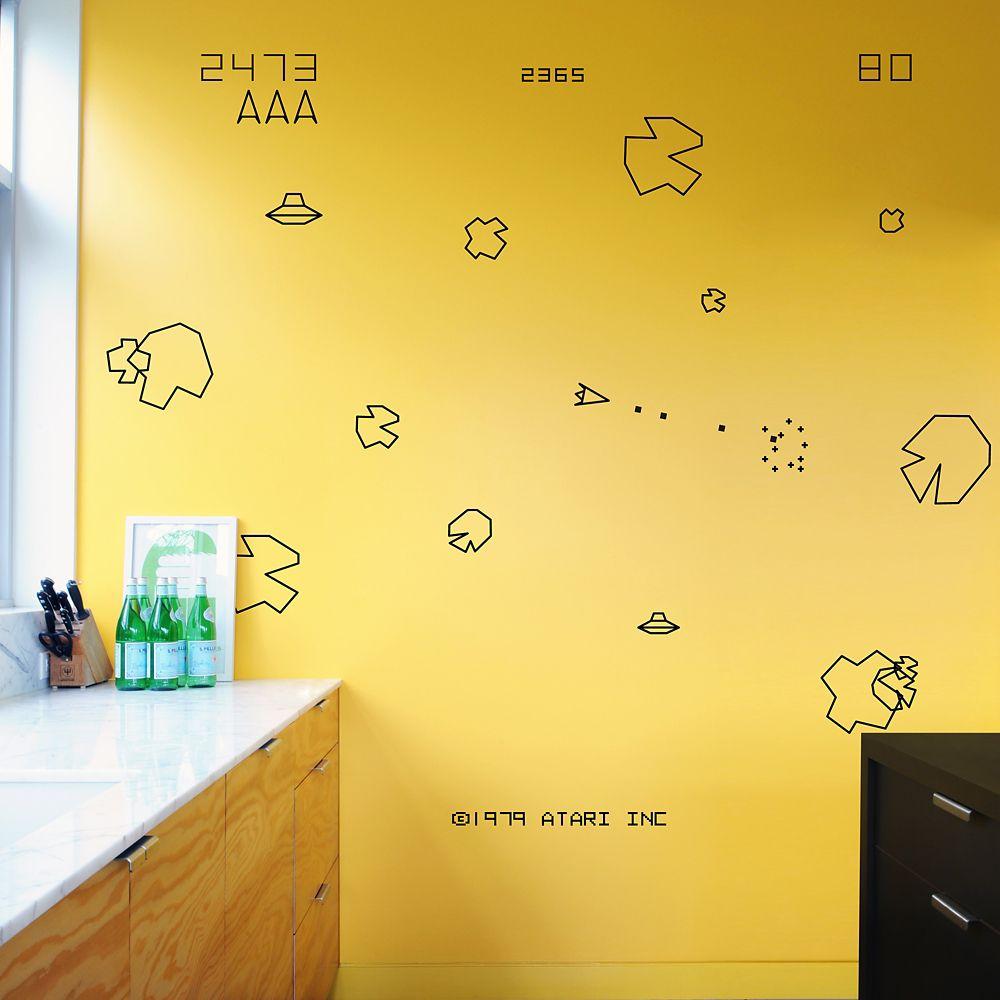 Blik Asteroids Re-Stik Wall Decal