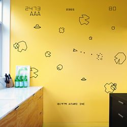 Blik Asteroids Re-Stik Wall Decal