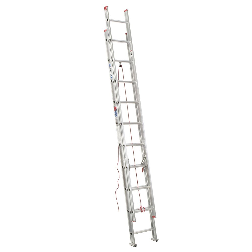 Aluminum Extension Ladder Grade 3 (200# Load Capacity) - 20 Feet
