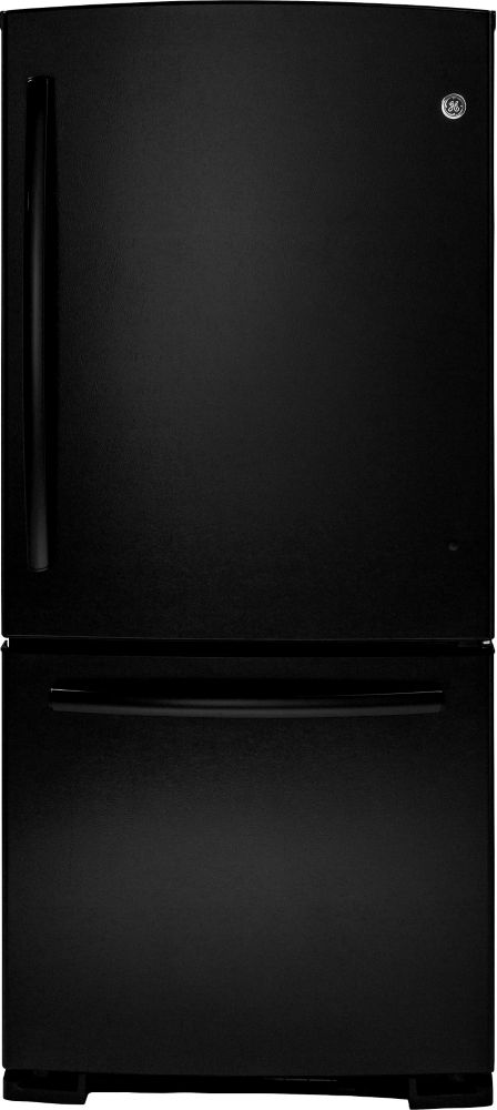 20.2 cu. ft. Refrigerator with Bottom Mount Freezer and Pull-Out Drawer in Black