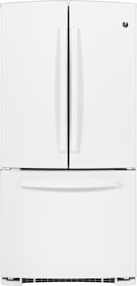 22.1 cu. ft. Bottom-Mount French Door Refrigerator with Pull Out Drawer in White