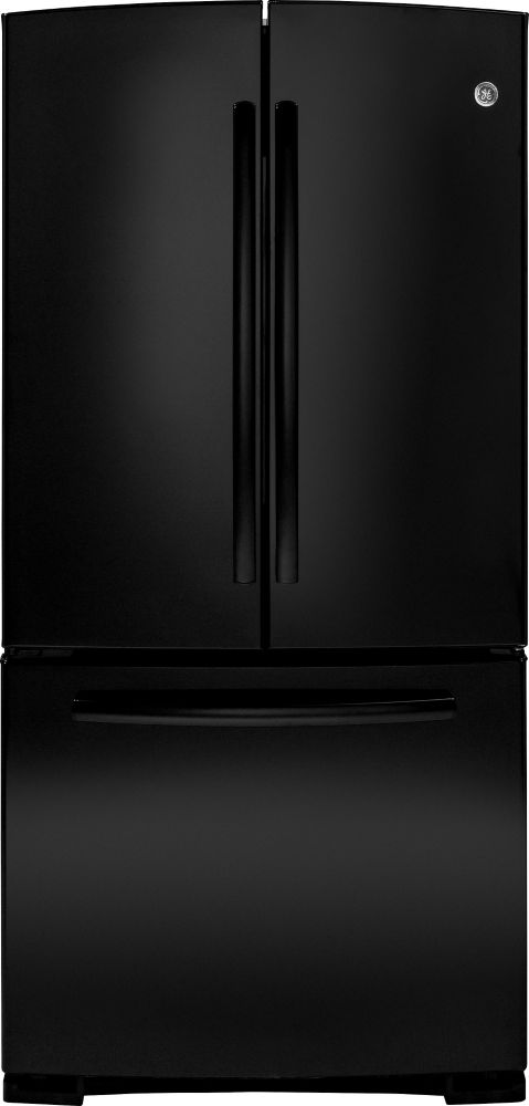 22.1 cu. ft. Bottom-Mount French Door Refrigerator with Pull Out Drawer in Black