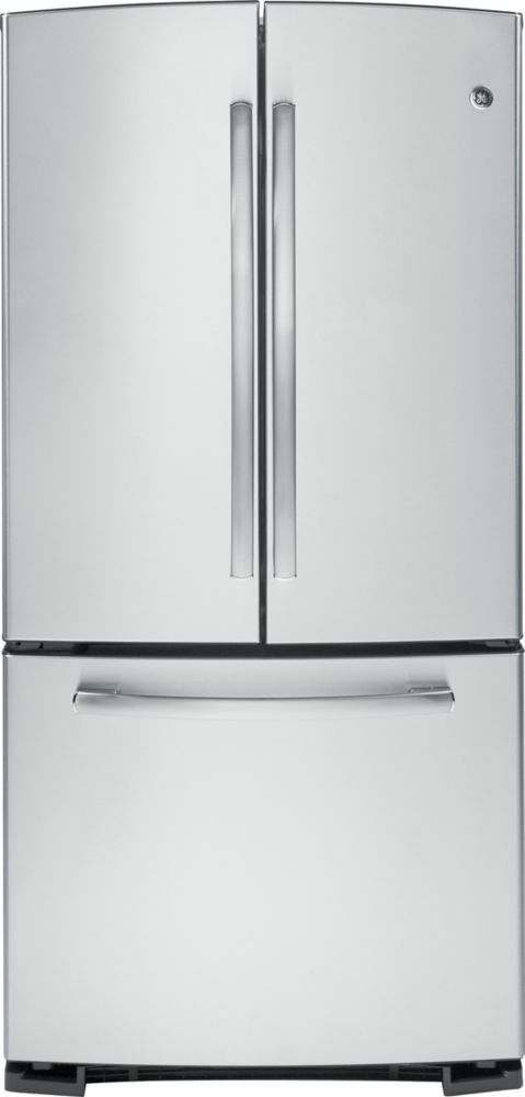 22.1 cu. ft. Bottom-Mount French Door Refrigerator with Pull Out Drawer in Stainless Steel