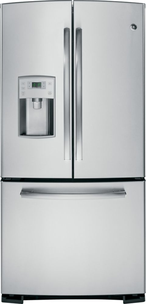 22.1 cu. ft. Bottom-Mount French Door Refrigerator with External Water Dispenser in Stainless Ste...