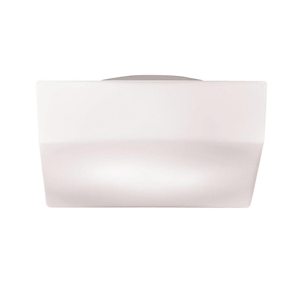 Amata Collection 2-Light White Flush Mount