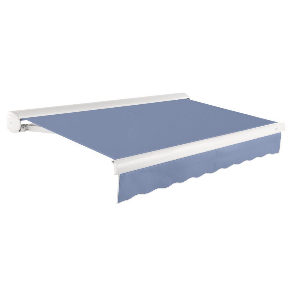 7,32m (24pi) VICTORIA   Auvent rétractable manuel   (Projection 3,05m [10pi])  - Bleu cendré